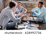 young professional group... | Shutterstock . vector #628492736