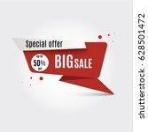 super sale banner. | Shutterstock .eps vector #628501472