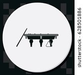 the billiard icon. game symbol. ... | Shutterstock .eps vector #628501886