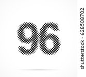 number ninety six  96 in... | Shutterstock .eps vector #628508702