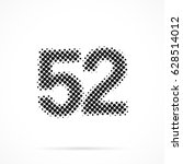 number fifty two  52 in... | Shutterstock .eps vector #628514012