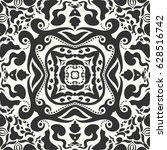 stylish black and white doodle... | Shutterstock .eps vector #628516742