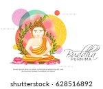illustration of buddha purnima  ... | Shutterstock .eps vector #628516892