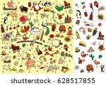 world travel visual game  how... | Shutterstock .eps vector #628517855
