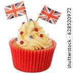 British Cupcake Isolated
