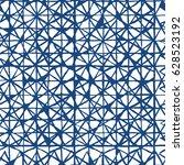 shibori indigo geometrical... | Shutterstock .eps vector #628523192