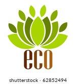 ecological emblem or logo.... | Shutterstock .eps vector #62852494