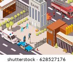 isometric 3d rescue service... | Shutterstock .eps vector #628527176