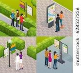 outdoor city streets plan... | Shutterstock .eps vector #628527326