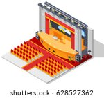 theatre interior isometric... | Shutterstock .eps vector #628527362