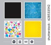 carbon fiber texture. yellow... | Shutterstock .eps vector #628533542
