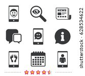 selfie smile face icon.... | Shutterstock .eps vector #628534622
