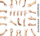 multiple male caucasian hand... | Shutterstock . vector #628539056