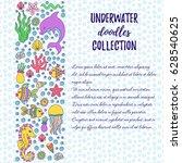 sea ocean doodle s line border... | Shutterstock .eps vector #628540625
