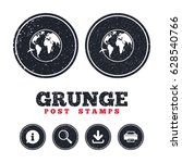 grunge post stamps. airplane... | Shutterstock .eps vector #628540766