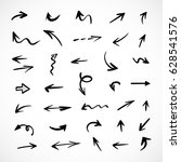 hand drawn arrows  vector set | Shutterstock .eps vector #628541576
