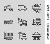 trailer icons set. set of 9... | Shutterstock .eps vector #628541825