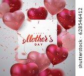 happy mothers day. vector... | Shutterstock .eps vector #628546412