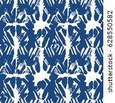 ornament shibori indigo... | Shutterstock .eps vector #628550582