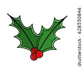 leafs christmas decoration icon | Shutterstock .eps vector #628550846