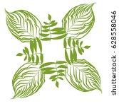 jungle border frame with... | Shutterstock .eps vector #628558046