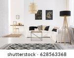 white cozy modern designed... | Shutterstock . vector #628563368