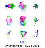 business design elements  icons | Shutterstock .eps vector #62856415