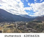 wide view from viewpoint of...   Shutterstock . vector #628566326