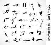 hand drawn arrows  vector set | Shutterstock .eps vector #628579622