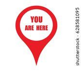 marker location icon with you... | Shutterstock .eps vector #628581095