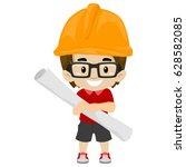 vector illustration of kid boy... | Shutterstock .eps vector #628582085