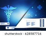 2d illustration health care and ... | Shutterstock . vector #628587716