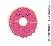 cute little donut float as a... | Shutterstock . vector #628602002