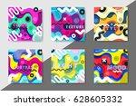 artistic funky design for print ... | Shutterstock .eps vector #628605332