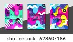 artistic funky design for print ... | Shutterstock .eps vector #628607186