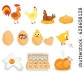 set of farm animals  vector...   Shutterstock .eps vector #628608128
