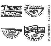 vintage hunting club emblems | Shutterstock .eps vector #628608536
