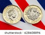 new british pound coin showing... | Shutterstock . vector #628608896