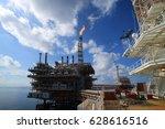 offshore construction platform... | Shutterstock . vector #628616516