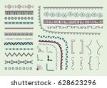page and text decoration... | Shutterstock .eps vector #628623296
