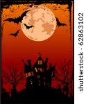 grunge halloween background... | Shutterstock .eps vector #62863102