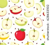 vector seamless pattern with... | Shutterstock .eps vector #628633502