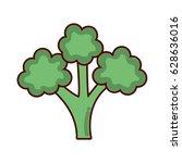 green delicious broccoli... | Shutterstock .eps vector #628636016