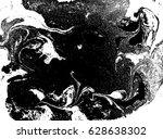 black and white liquid texture  ... | Shutterstock .eps vector #628638302
