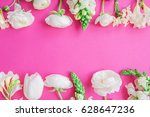 Floral Frame Of White Flowers ...