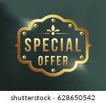 high quality luxury golden...   Shutterstock .eps vector #628650542