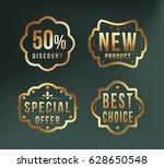 high quality luxury golden...   Shutterstock .eps vector #628650548