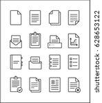 set of vector outline file... | Shutterstock .eps vector #628653122