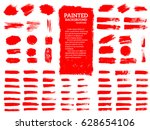 painted grunge stripes set. red ... | Shutterstock .eps vector #628654106