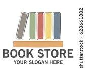 book store logo   Shutterstock .eps vector #628661882